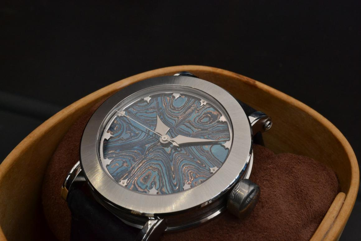 The Bifrost Isblå prototype on display at Baselworld 2014
