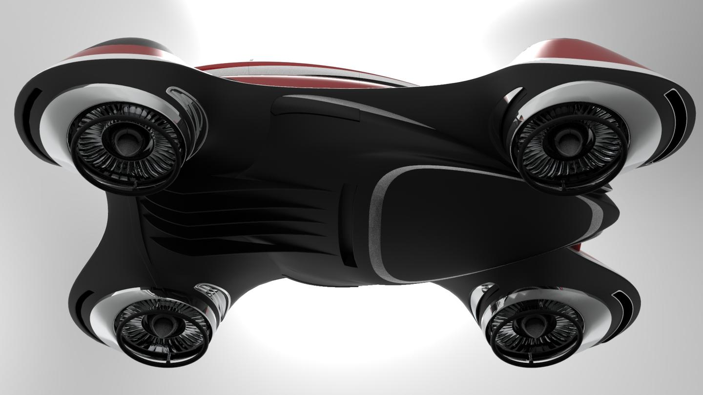 A look at the underside of the Hover Coupè concept