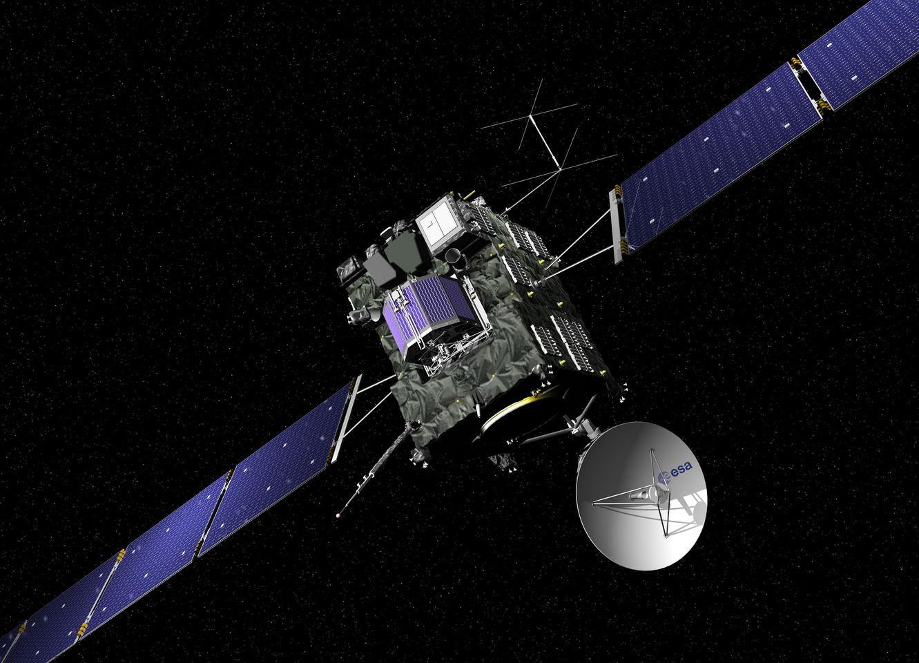 Artist's impression of the Rosetta spacecraft (Image: ESA - J. Huart)