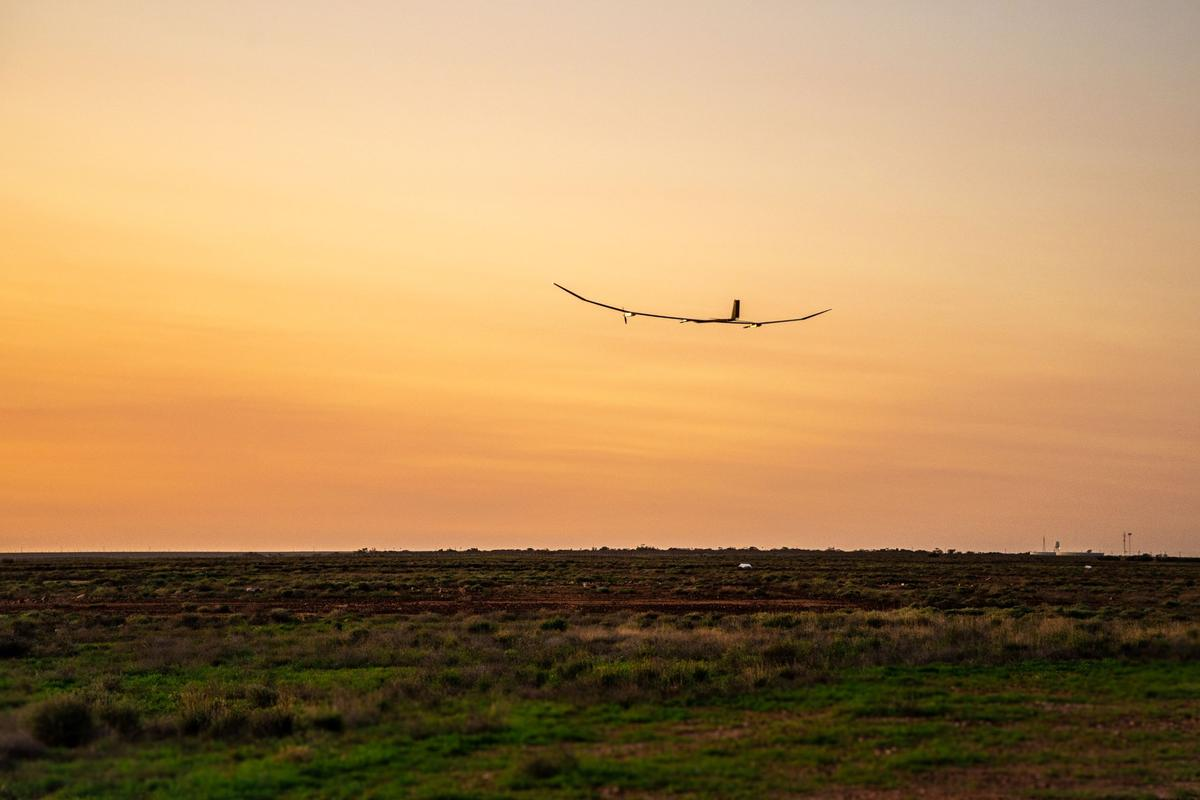 PHASA-35 flying in the predawn
