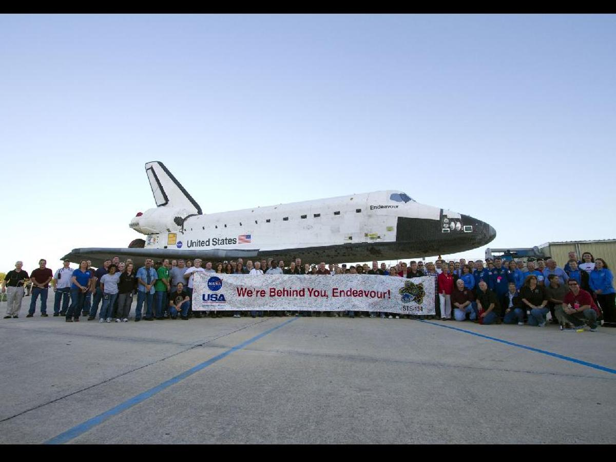 The Endeavour space shuttle is currently on its final flight, and the second-last flight of the entire shuttle program (Photo: NASA)