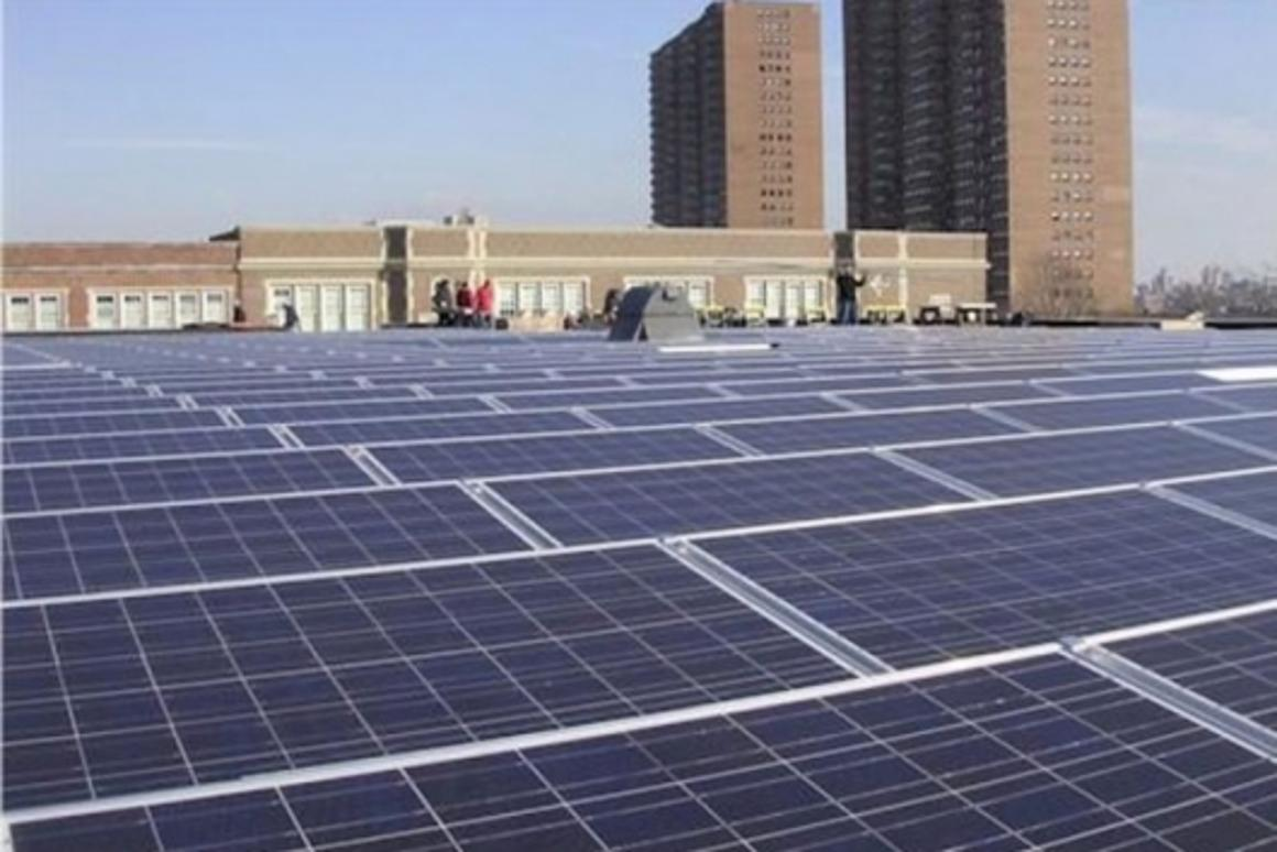 Existing Clear Skies solar installation at St. Josephs, West New York, NJ