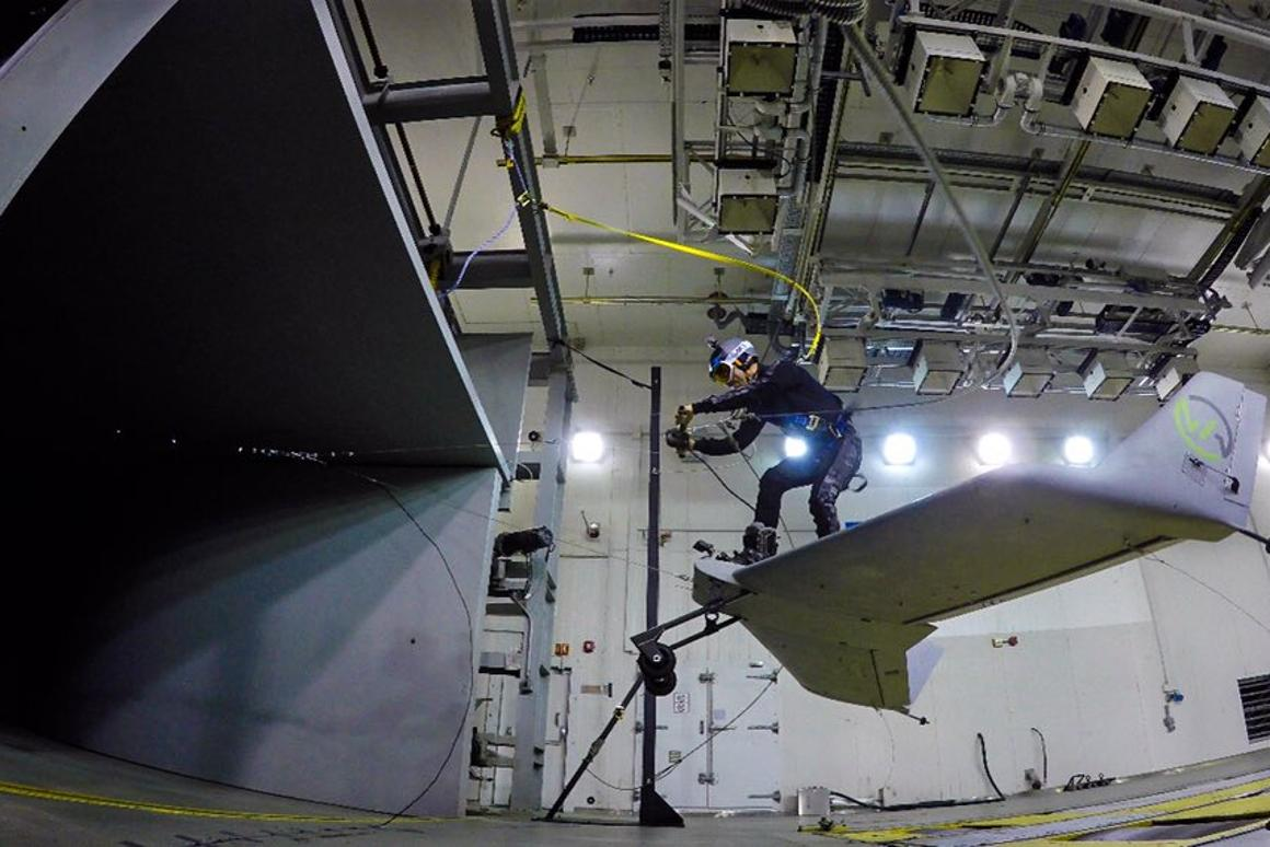 Successful wind tunnel testing brings flying wakeboard