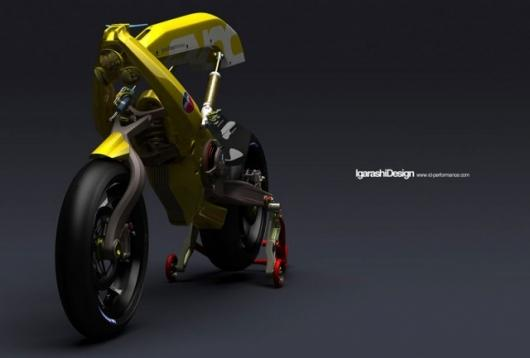 Igarashi Design's riderless robotically controlled motorcycle