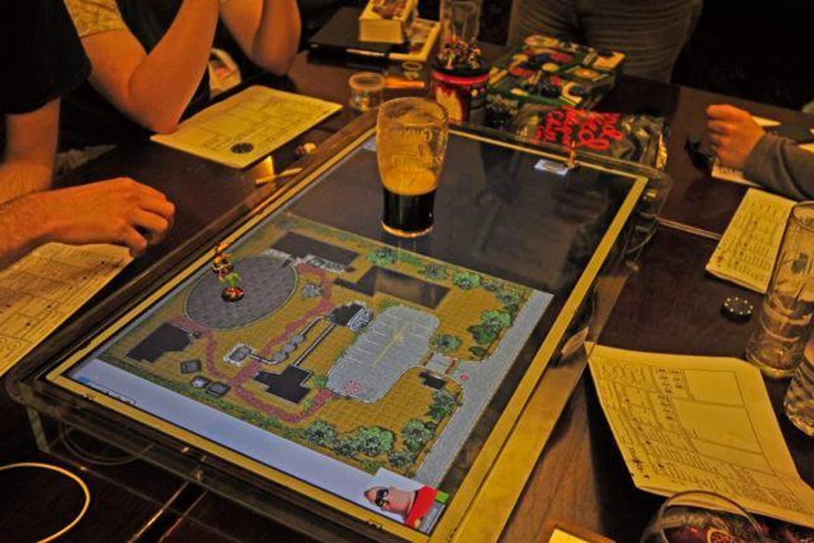 GameChanger is a damage-resistant screen designed to act as a virtual surface for tabletop games like Dungeons & Dragons and Warhammer