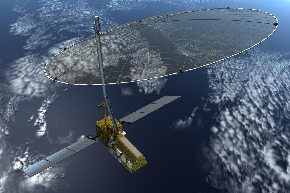 Artist's concept of the NASA-ISRO Synthetic Aperture Radar (NISAR) mission (Image: NASA)