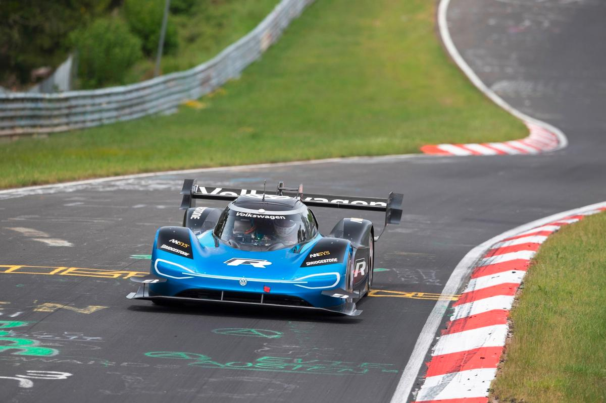 Volkswagen's ID.R in action at Nürburgring-Nordschleife