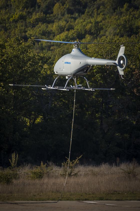 The unmanned VSR700 prototype flew tethered to the ground