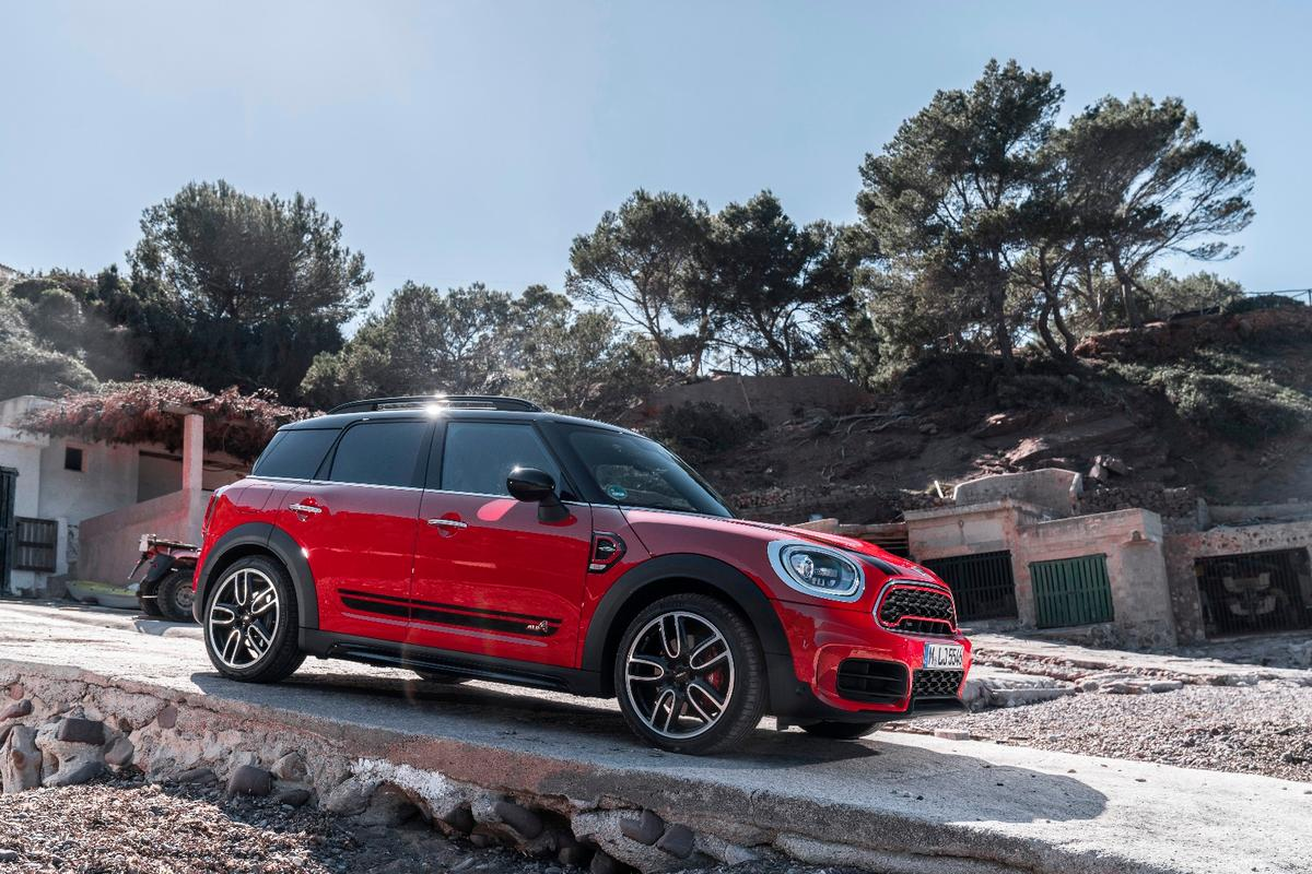 The Mini JCW Countryman, set to launch in Shanghai