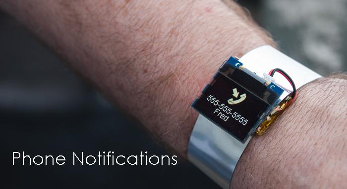 The Smart Watch will allow you to configure notifications like phone calls, texts, and tweets