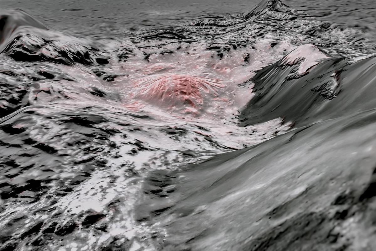 Мозаїчне зображення з використанням штучних кольорів для виділення соляного розчину на поверхні Церери. NASA / JPL-Caltech / UCLA / MPS / DLR / IDA / USRA / LPI
