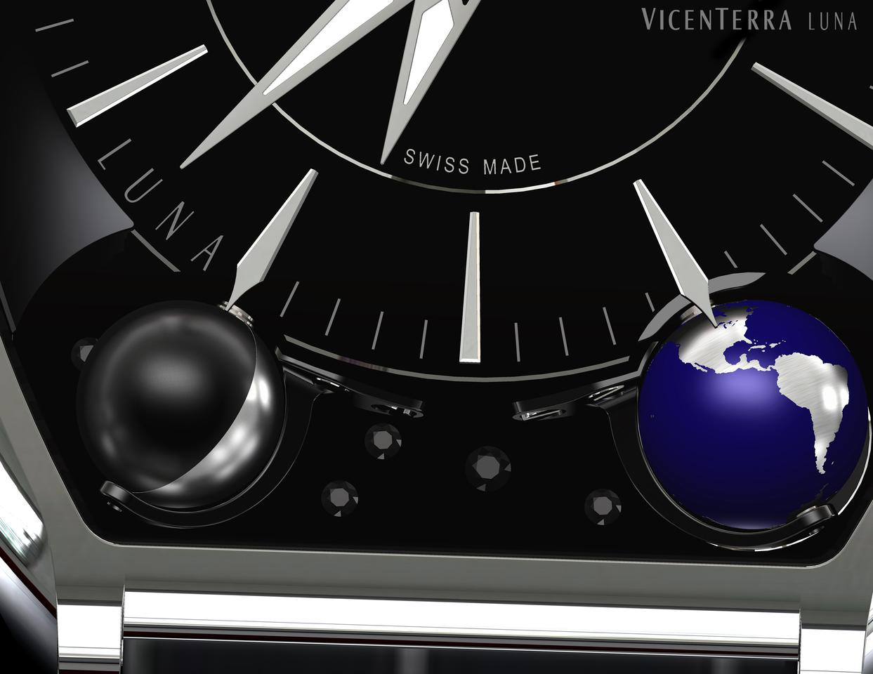 The Vicenterra Luna volume 1 shows the Earth and Moon as solid globes