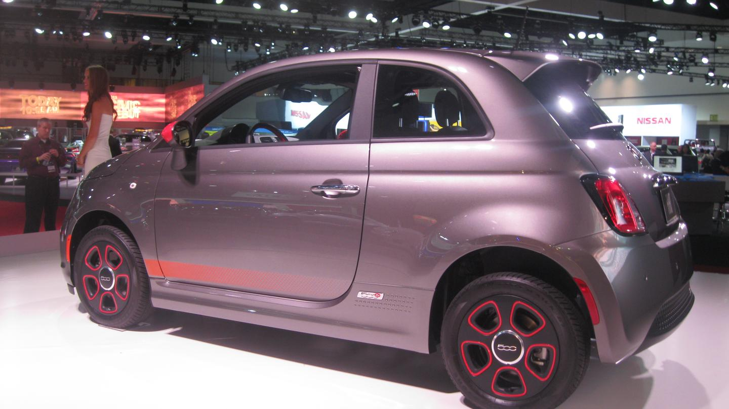 The 500e is Chrysler Group's first road-going retail electric vehicle