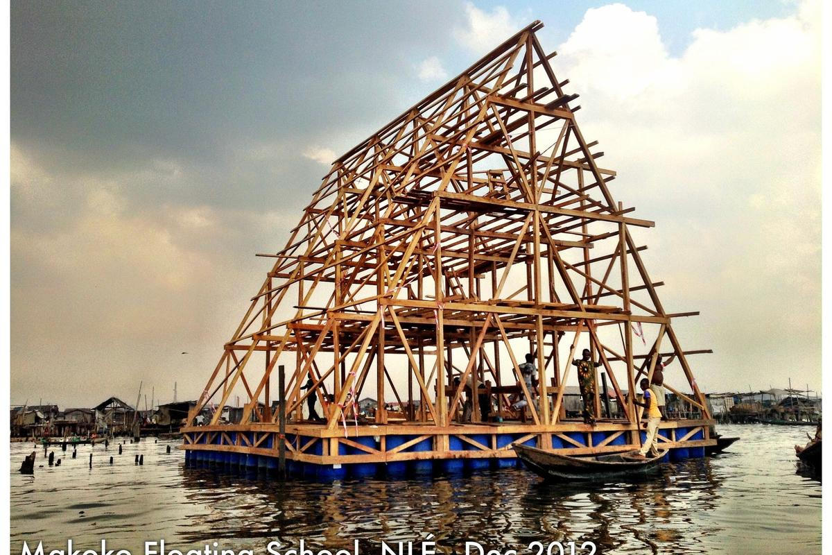 The Makoko school frame was completed in December 2012 (Image: NLÉ)