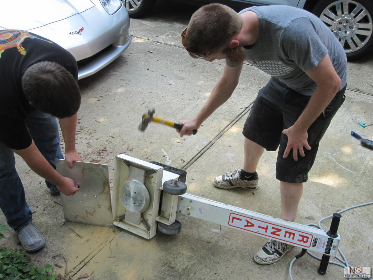 Breaking apart the industrial floor sander