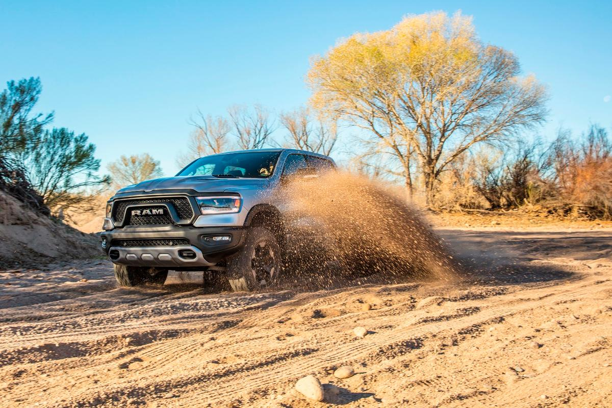 We drove the 2019 Ram 1500 both on and off the road, sometimes with spectacular results