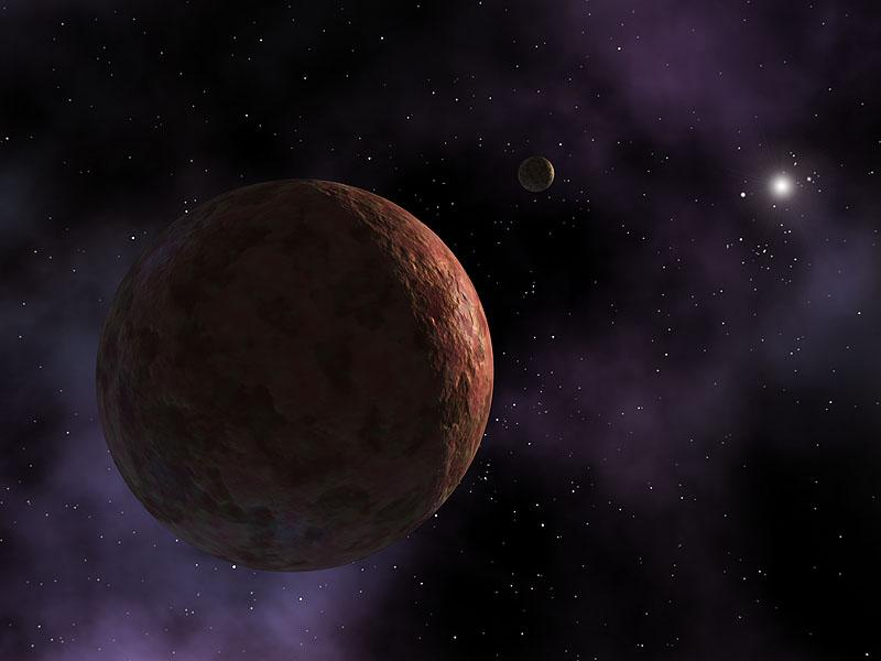 An artist's rendition of Sedna, a dwarf planet that lurks on the edge of the Solar System