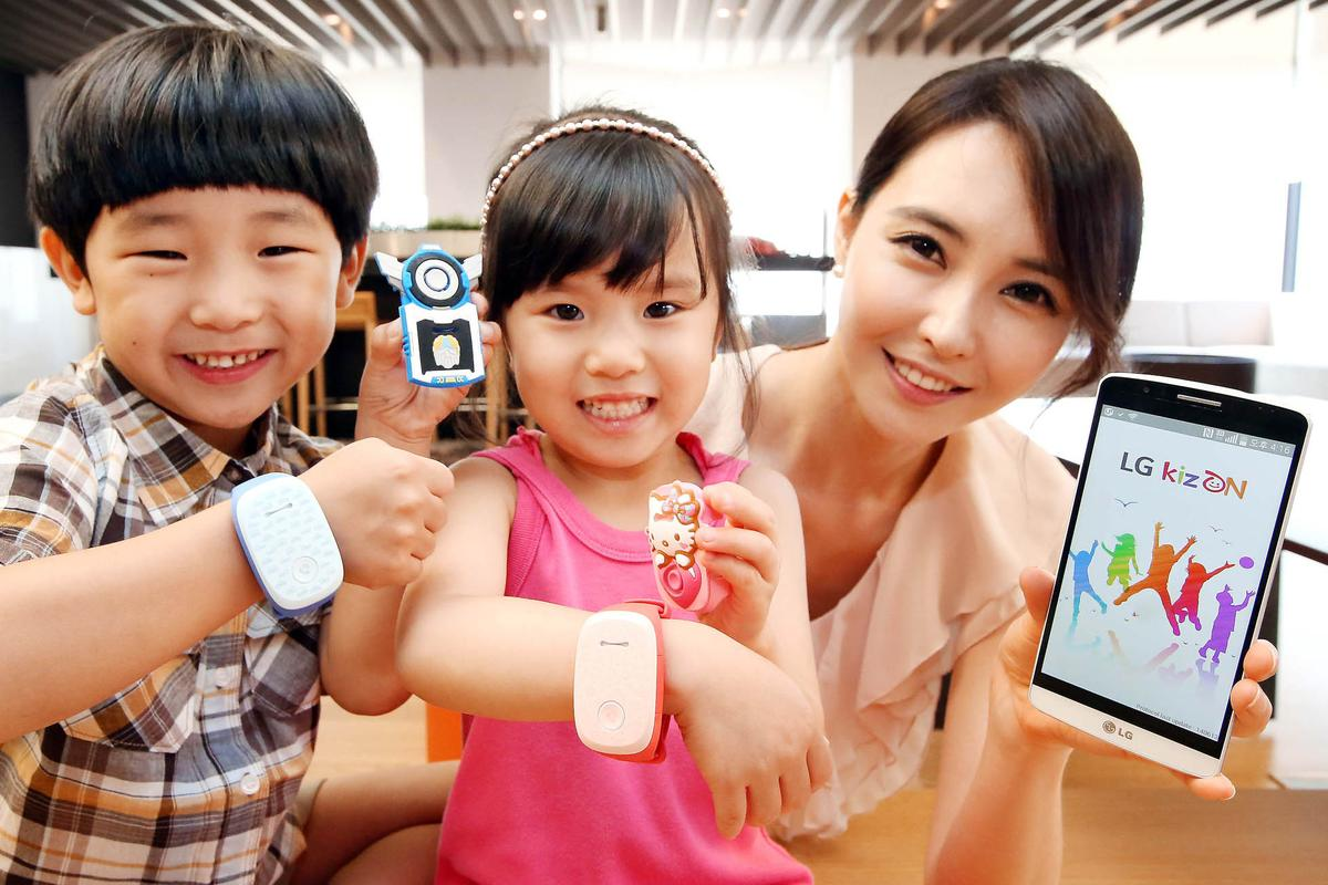 LG's KizOn straps to a child's wrist so that parents can know their location at all times
