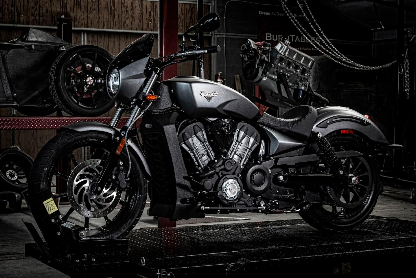 The final styling of the Victory Octane has been heavily influenced by the Ignition and Combustion concepts