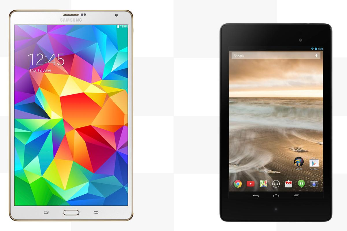 Gizmag compares the features and specs of the Samsung Galaxy Tab S 8.4 and Google/Asus Nexus 7 (2013)