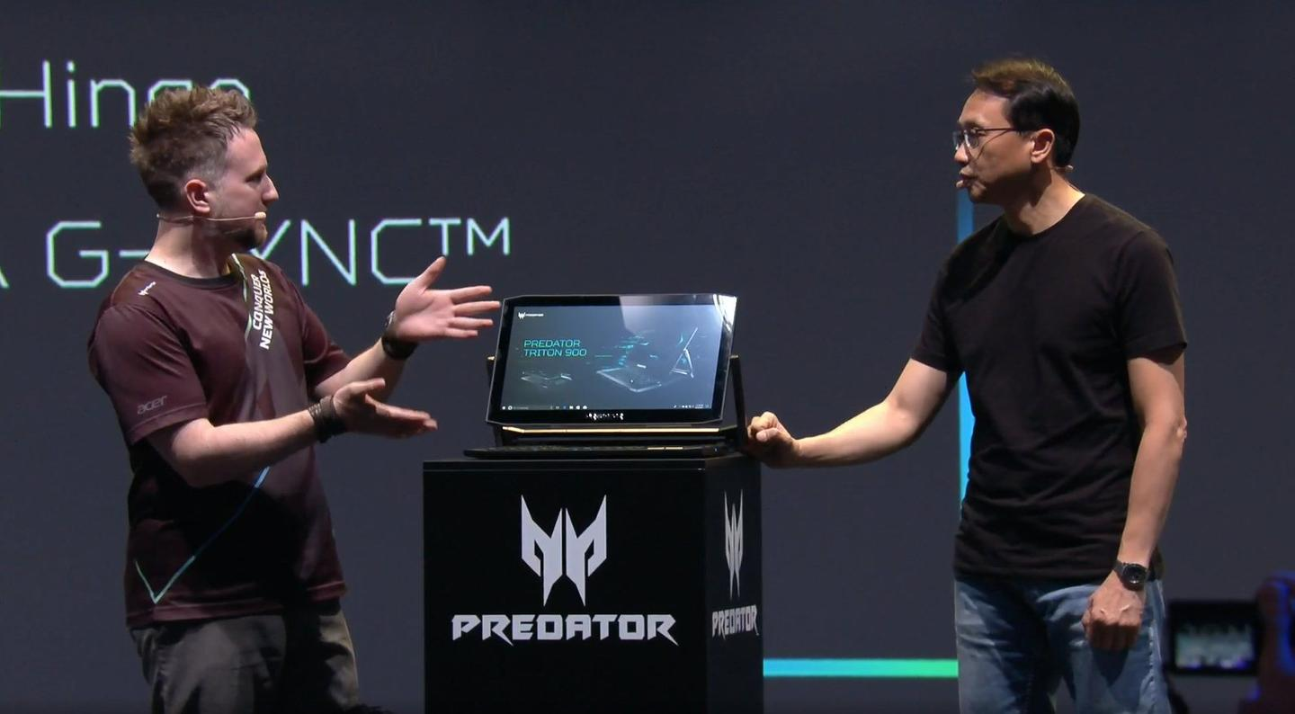 Acer introduced the Predator Triton 900 gaming laptop at IFA 2018 in Berlin, Germany