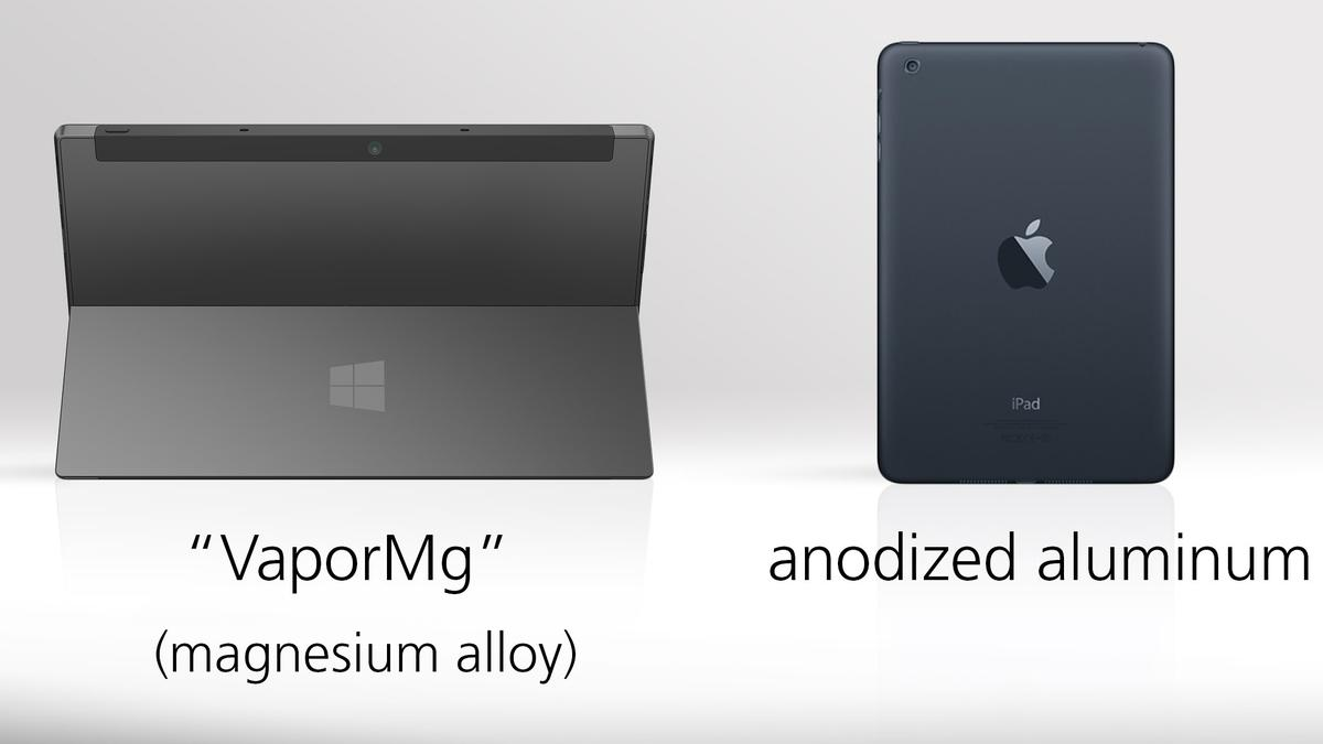 Both tablets are tightly constructed, and made of relatively high-end materials