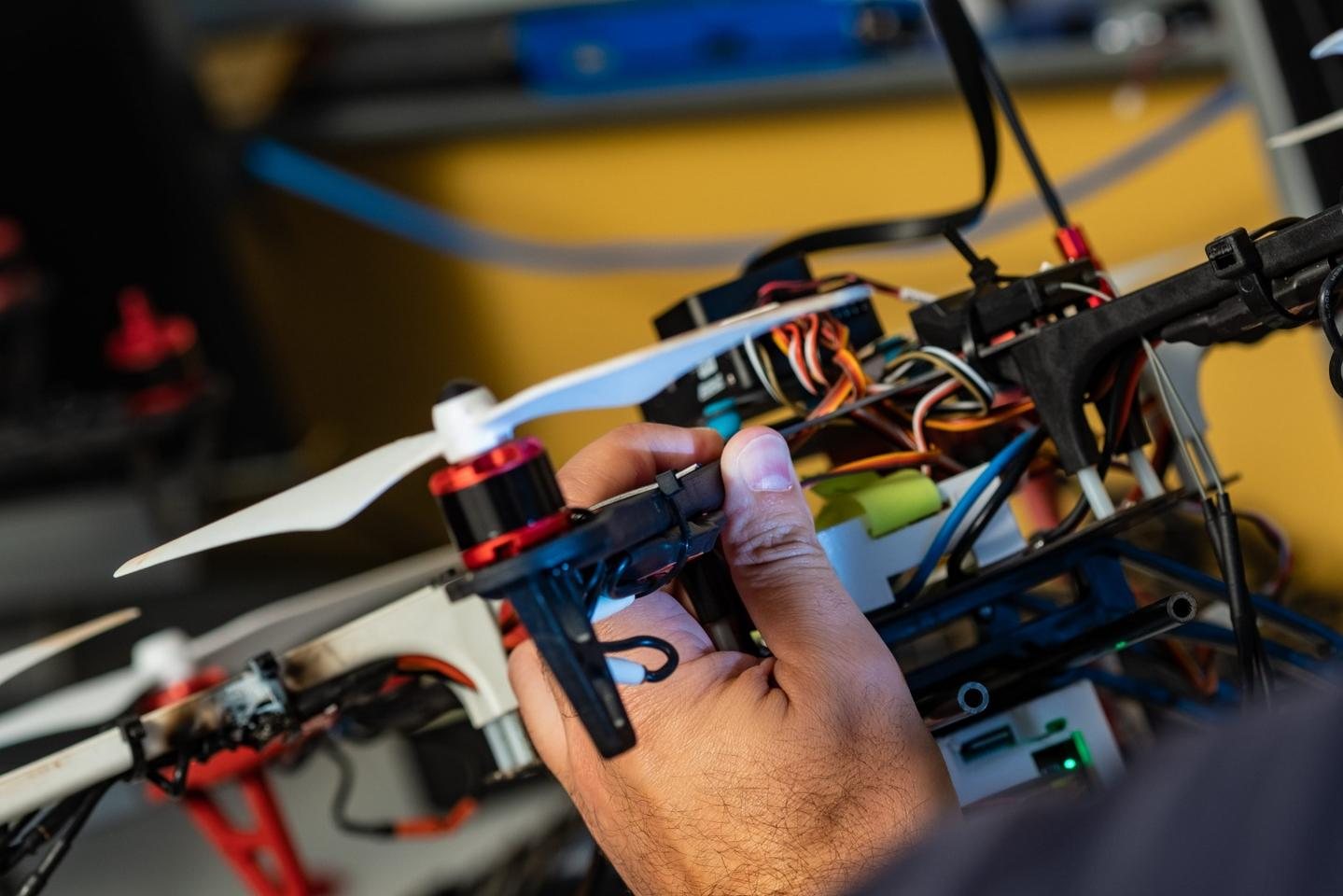 The plan is to put fleets of ASTRO drones into the air toform a network of gas-sniffing machines that use an onboard suite of sensors and transmitters to communicate with one another