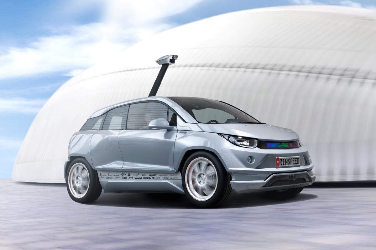 The Budii autonomous vehicle concept by Rinspeed is a showcase for self-driving vehicle technology