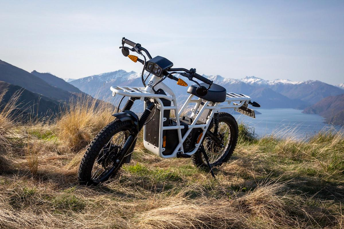 The lightweight UBCO 2x2 is a fascinating two wheel drive electric motorcycle
