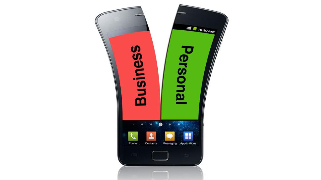 BizzTrust for Android splits a single smartphone into two virtual phones