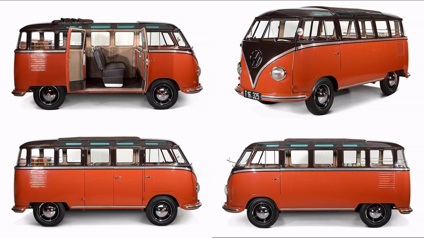 The highest price ever paid for a Volkswagen Kombi van at auction prior to this weekwas the€190,000 ($236,639) fetched by this 1955 VW 23-window Deluxe Samba. The car was auctionedbyAuctionata