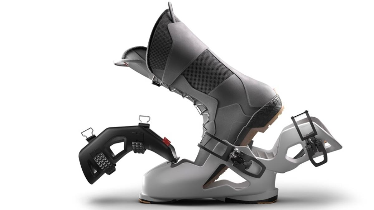The Dahu Swiss Boot allows users to walk normally when not actually on their skis