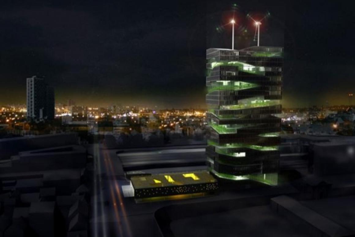 La Tour Vivante by night (Image credit: workshop SoA architects)