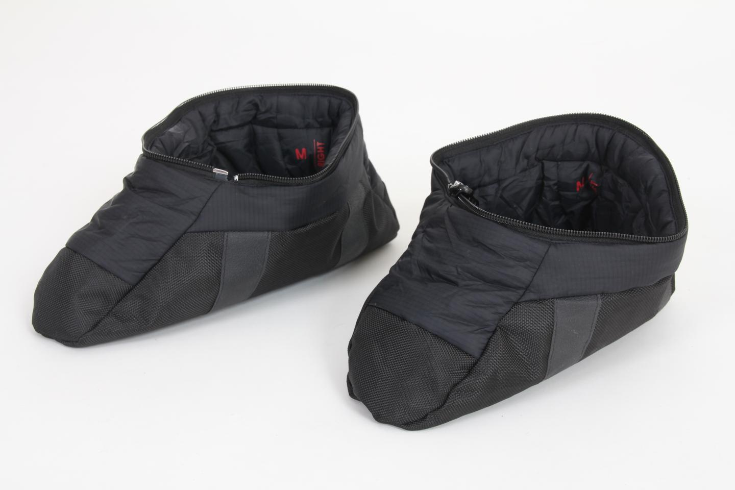 The removable booties zip together to form a pillow