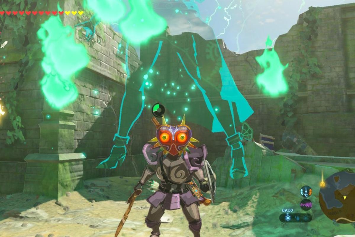 How To Get Midna S Helmet And Majora S Mask In Zelda Botw S First Dlc