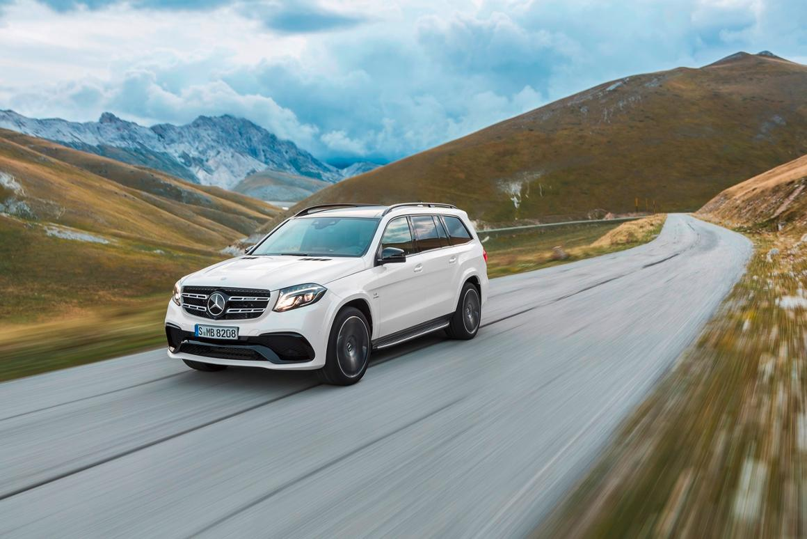 The highest-spec variant of the GLS, the GLS 63 4MATIC, produces 430 kW (585 hp)