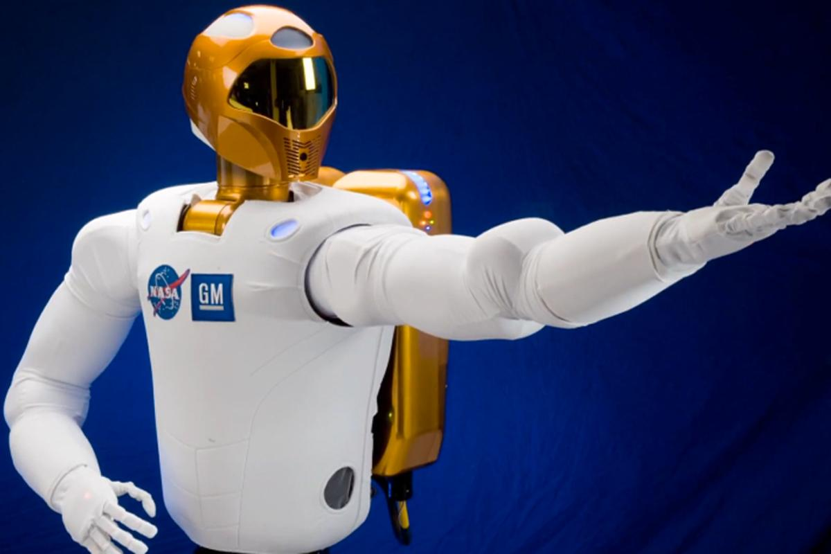 Robonaut 2 has been designed to work alongside humans - or perform as Hamlet apparently