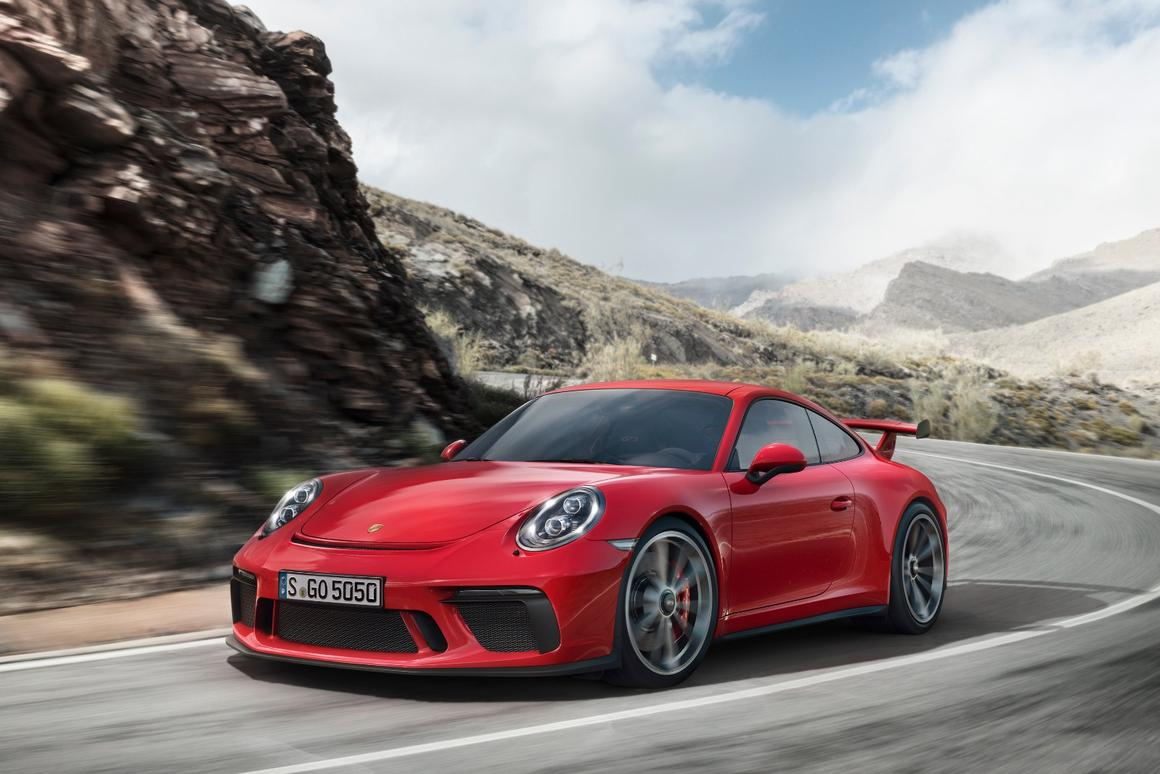 The new Porsche 911 GT3: now featuring a manual gearbox