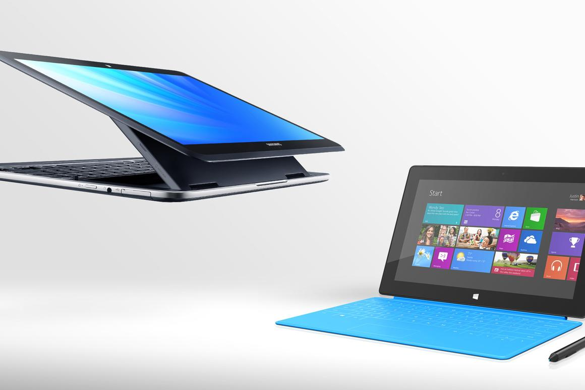 Gizmag compares the specs (and other features) of the Samsung Ativ Q and Microsoft Surface Pro