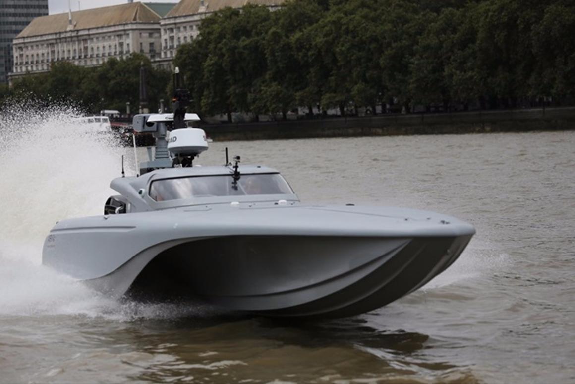 The MAST unmanned surface vessel (USV) has made its public debut on the Thames