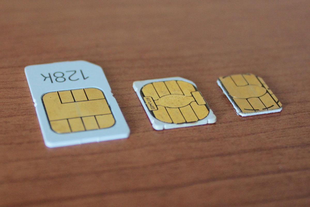 Mini-, micro-, and nano-SIM cards