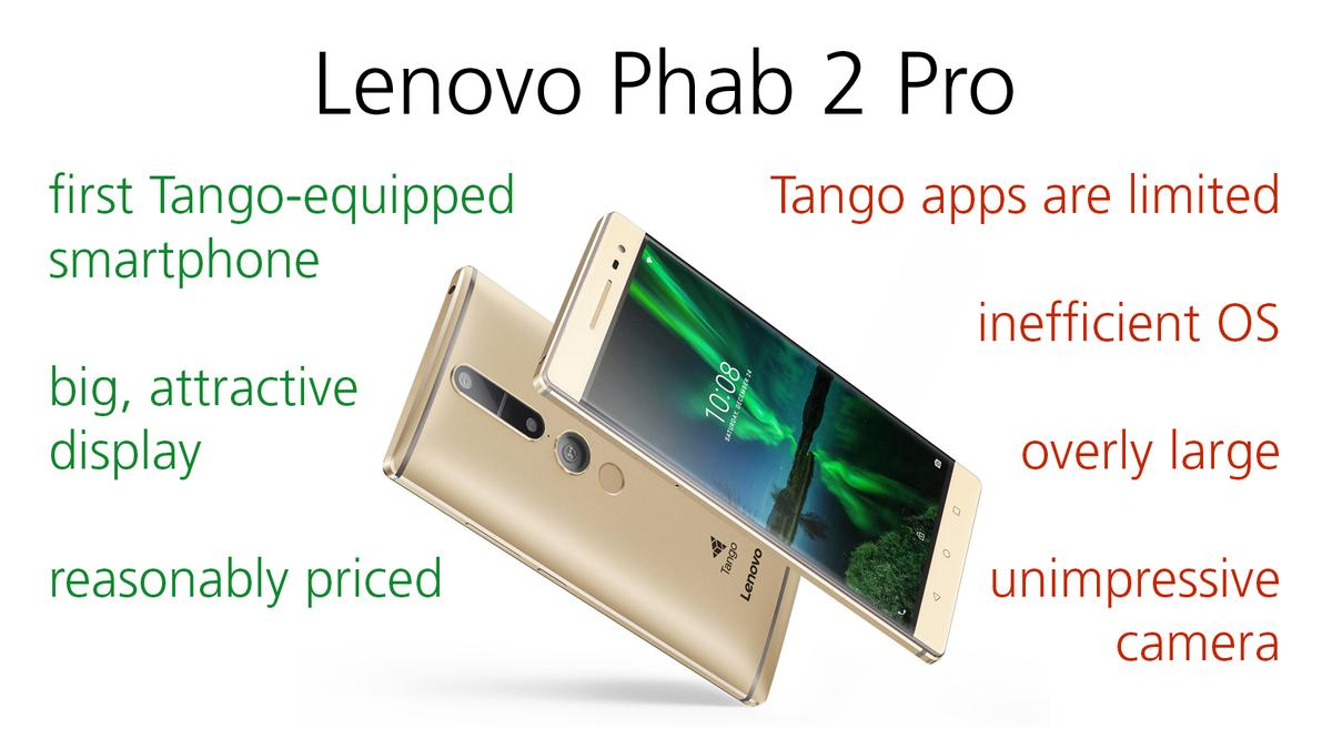 Pros and cons of Lenovo's Phab 2 Pro smartphone with Tango