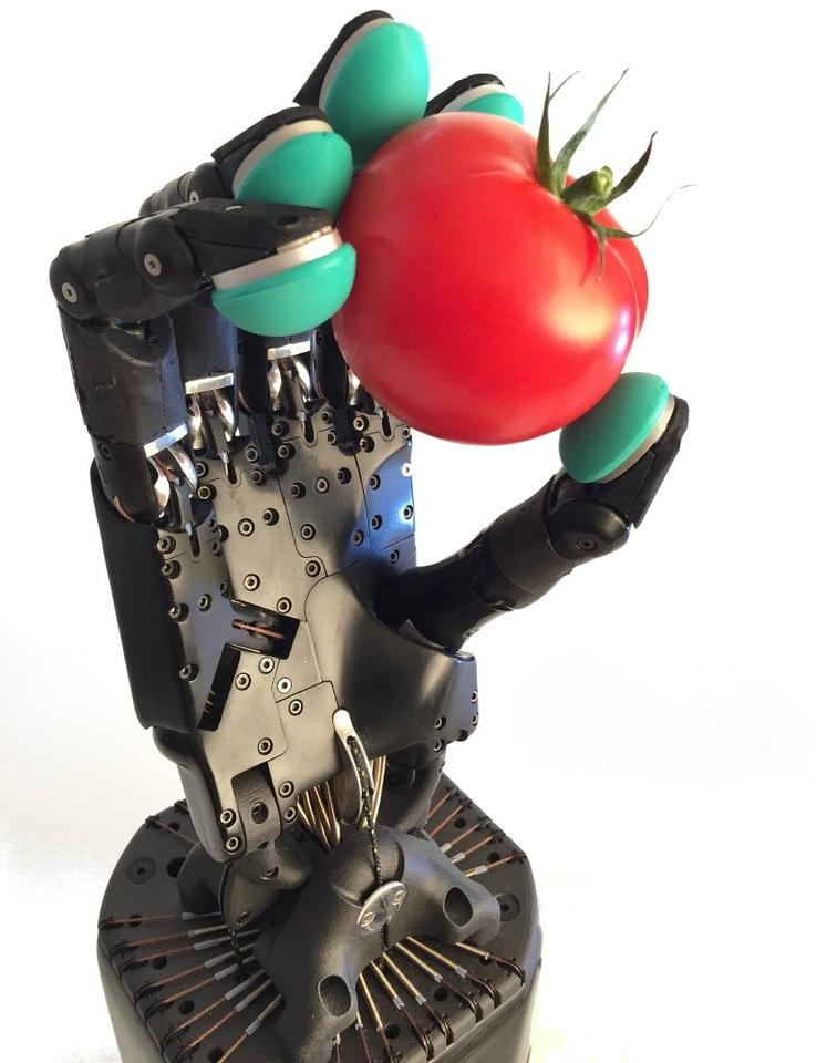 The Dexterous Hand is capable of 24 movements, and features 129 integrated sensors which track factors such as position, force and pressure
