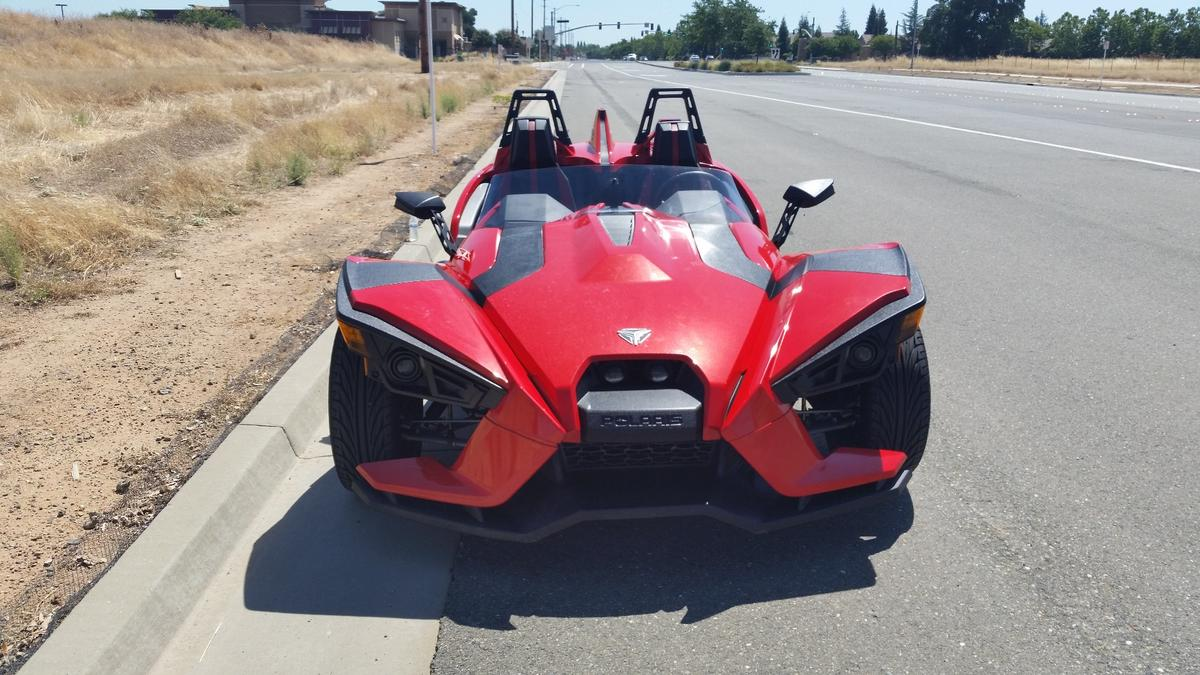 It's easy to see from this angle why the Slingshot brings the Batmobile to mind