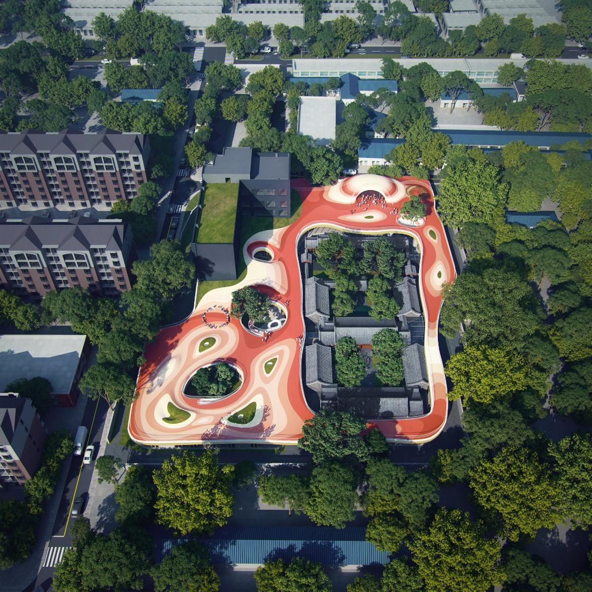 The Courtyard Kindergarten is currently under construction.MAD expects it to be completed and in use by late 2019