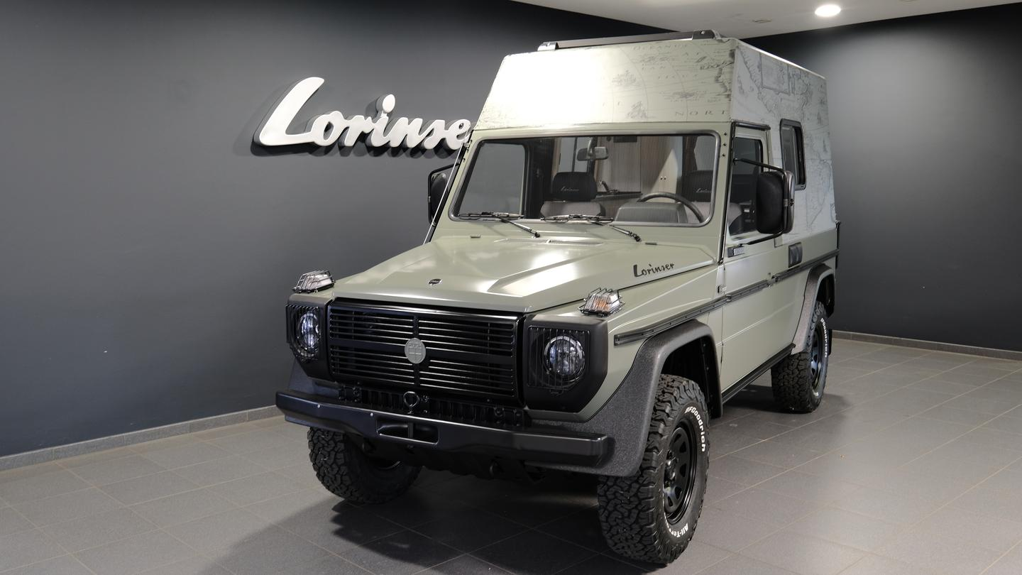 It looks like a Mercedes-Benz G-Class right up until you get close enough to see the Puch badge