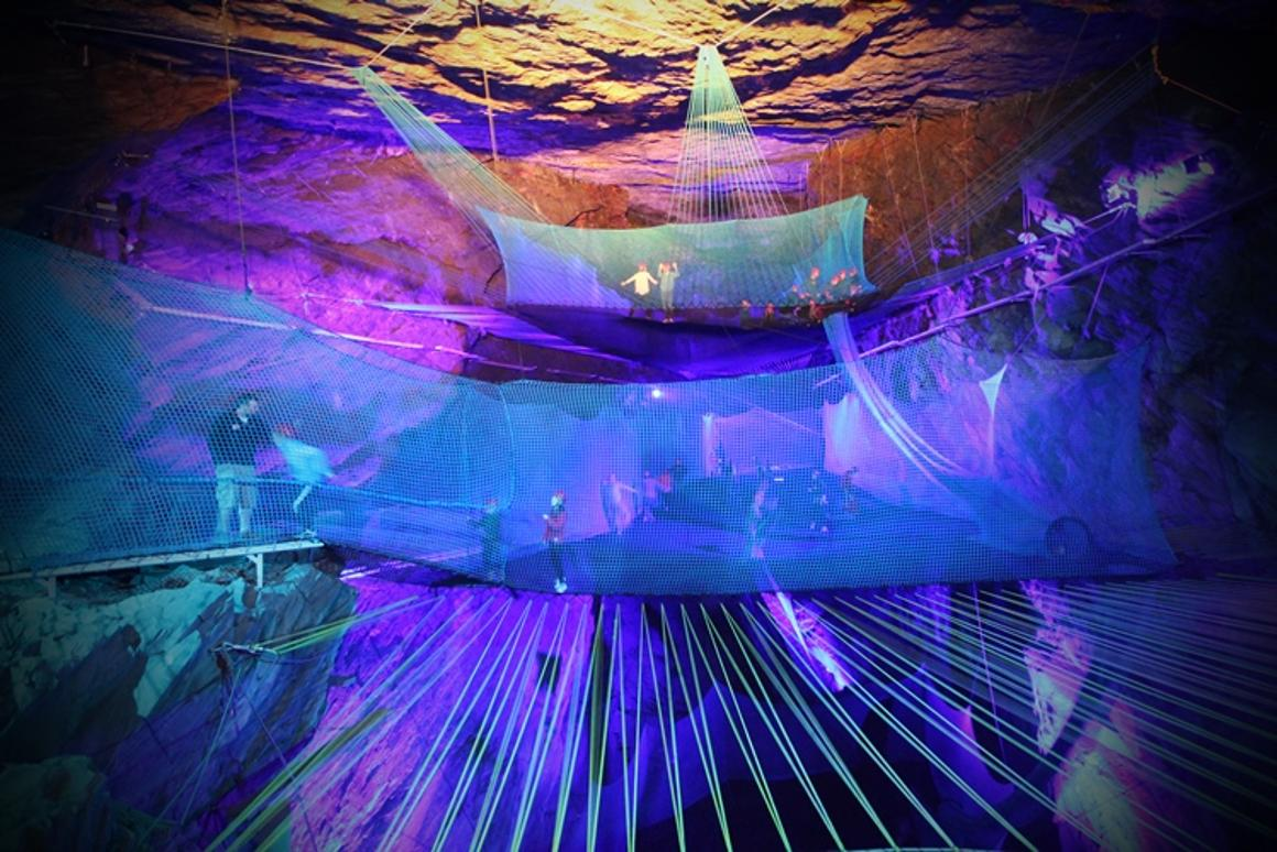The old Blaenau Ffestiniog slate mine in Northern Wales is soon to become the home of the world's largest underground trampoline