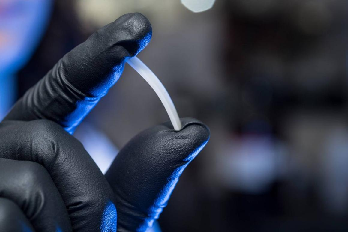 A sample of the infinitely-recyclable polymer developed at Colorado State University