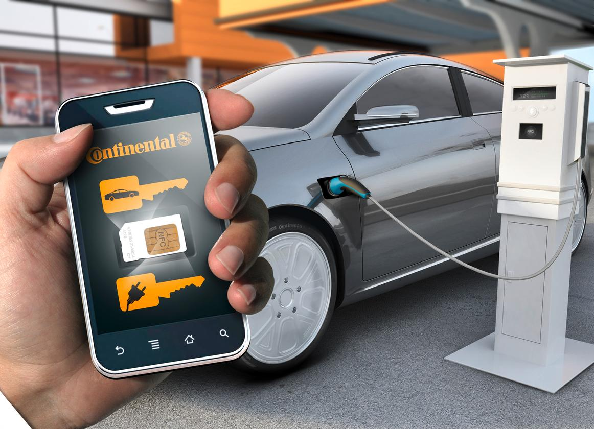 Continental's smartphone system replaces the car hire station and the car key