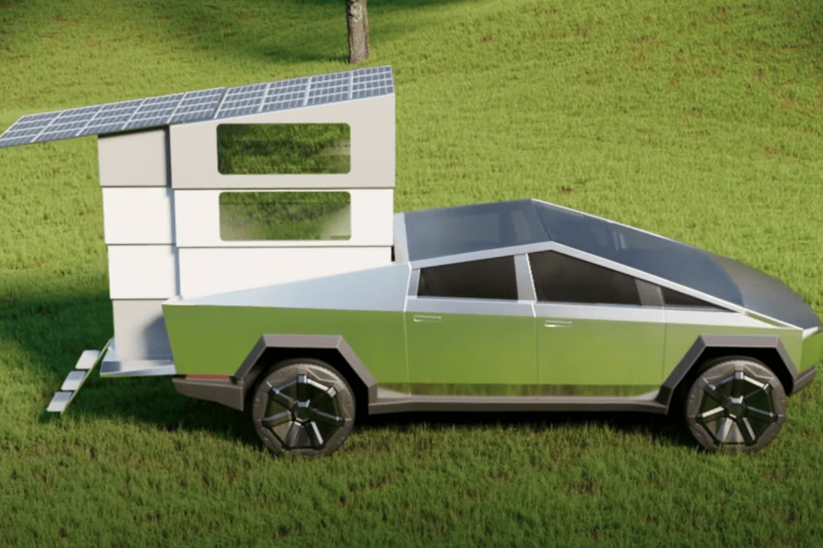 The Tesla Cybertruck gets some serious tail